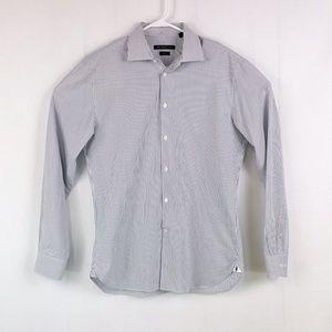 John Varvatos Mens Striped Button Front Shirt F35